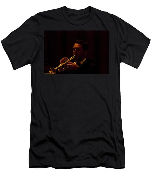 Men's T-Shirt (Athletic Fit) featuring the photograph Cancon Primi Toni - Trumpet by Miroslava Jurcik