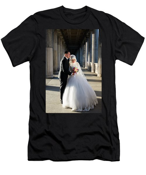 Candid Wedding Shot Men's T-Shirt (Athletic Fit)