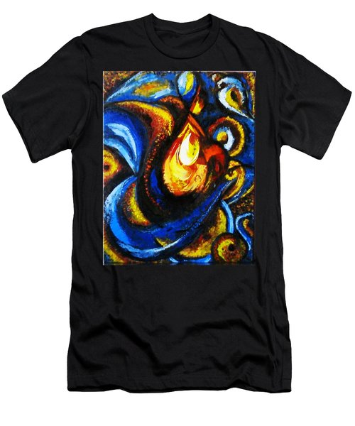 Men's T-Shirt (Slim Fit) featuring the painting Candle In Your Heart by Harsh Malik