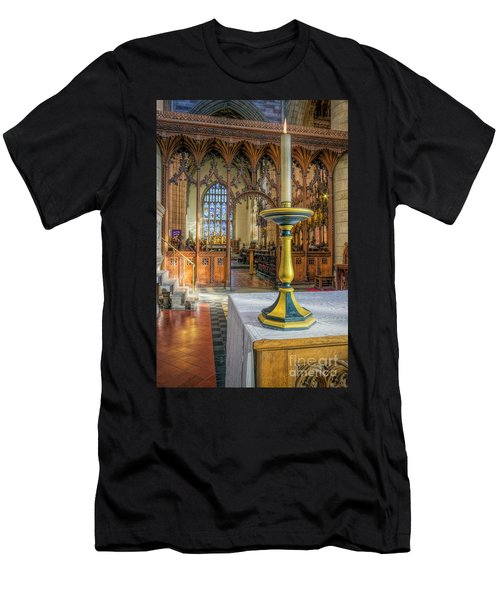 Men's T-Shirt (Slim Fit) featuring the photograph Candle Of  Prayer by Ian Mitchell