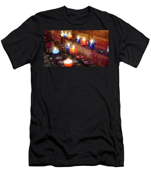 Candles Men's T-Shirt (Athletic Fit)