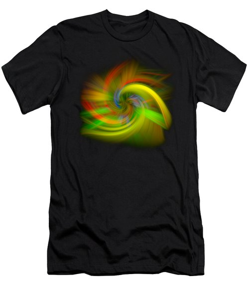 Men's T-Shirt (Slim Fit) featuring the photograph Candy Mountain Twirl by Debra and Dave Vanderlaan