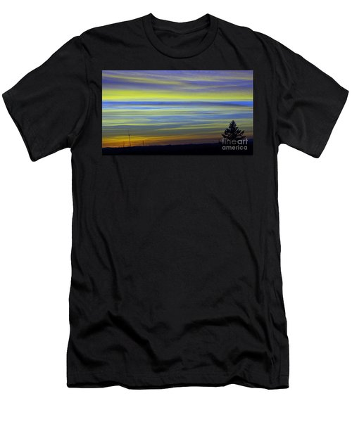 Men's T-Shirt (Slim Fit) featuring the photograph Candy Sky 1 by Victor K