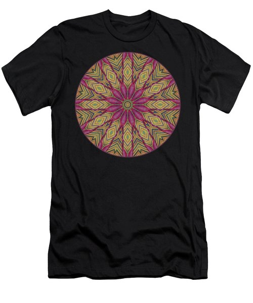 Canna Leaf - Mandala - Transparent Men's T-Shirt (Athletic Fit)