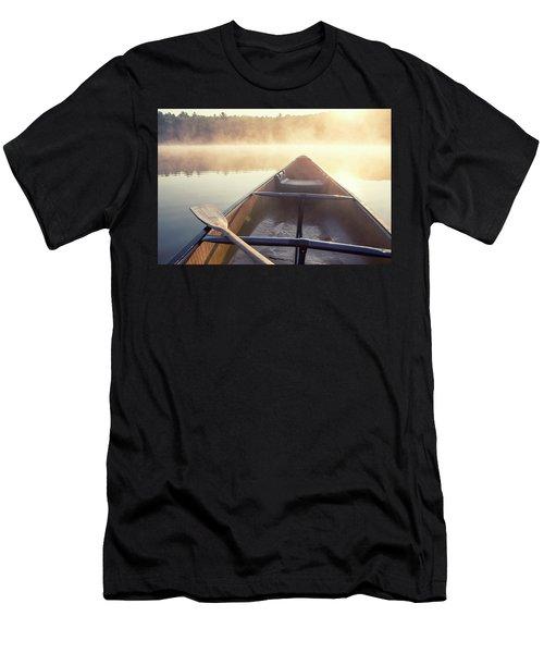 Canoe On Misty Catskills Lake Men's T-Shirt (Athletic Fit)