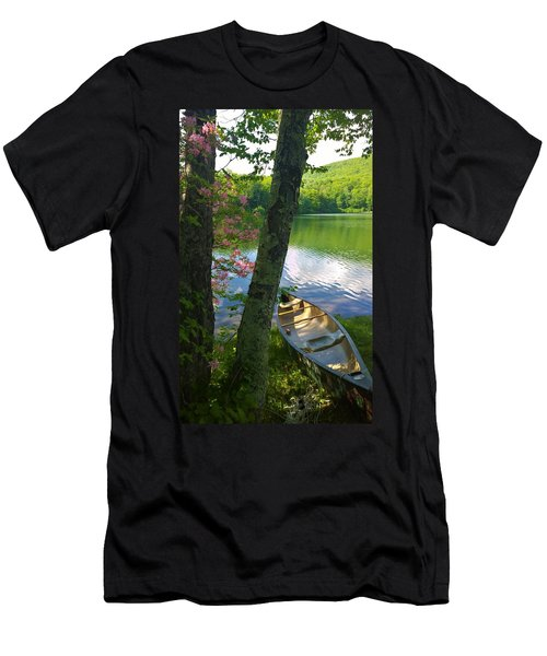 Canoe On Pond, Catskills Men's T-Shirt (Athletic Fit)