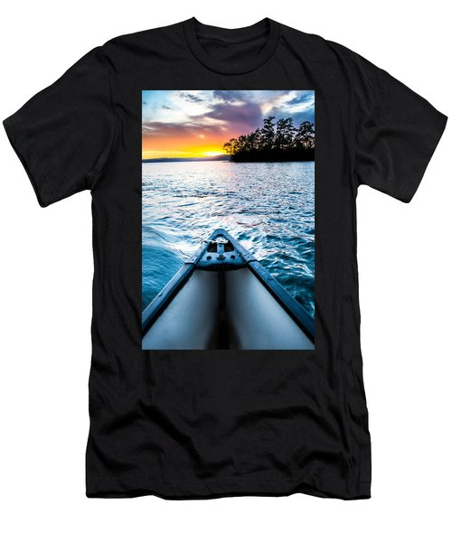 Canoeing In Paradise Men's T-Shirt (Athletic Fit)