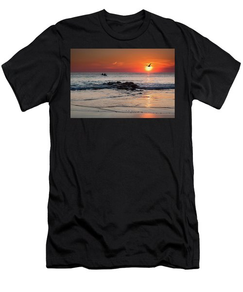 A Canoe At Crackington Haven At Sunset Cornwall Men's T-Shirt (Athletic Fit)