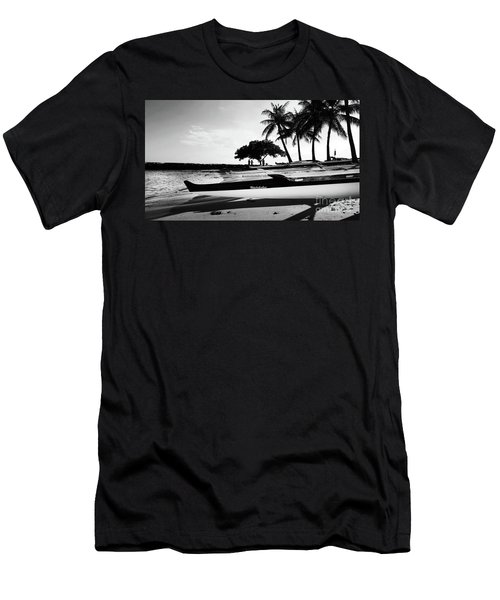 Men's T-Shirt (Slim Fit) featuring the photograph Canoes by Kristine Merc