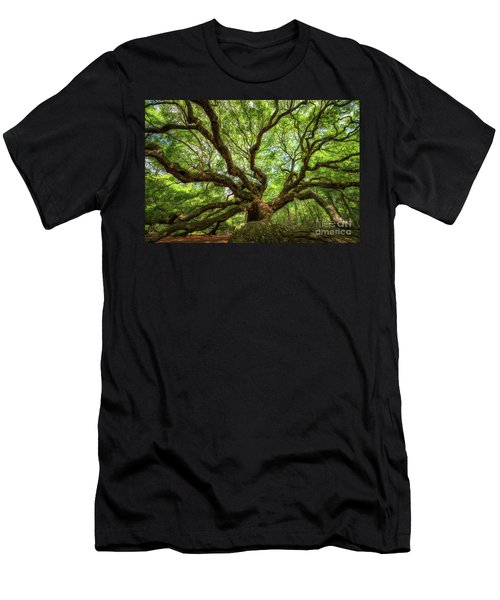 Canopy Of Color At Angel Oak Tree  Men's T-Shirt (Athletic Fit)