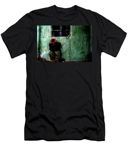 Men's T-Shirt (Slim Fit) featuring the photograph Can't Escape The Madness by Gray  Artus