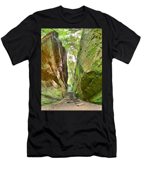 Cantwell Cliffs Trail Hocking Hills Ohio Men's T-Shirt (Athletic Fit)