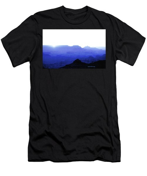 Canyon In Blue Men's T-Shirt (Athletic Fit)