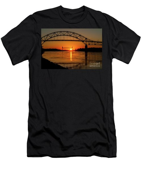 Cape Cod Canal Sunset Men's T-Shirt (Athletic Fit)