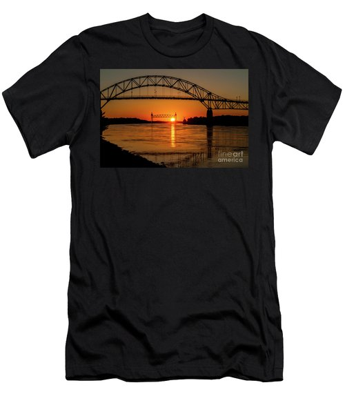 Cape Cod Canal Sunset Men's T-Shirt (Athletic Fit)