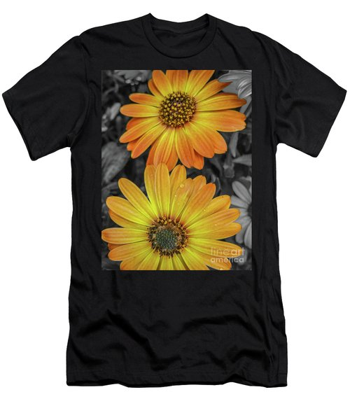 Cape Daisy's - Orange Men's T-Shirt (Athletic Fit)