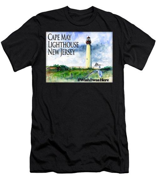 Cape May Lighthouse Shirt Men's T-Shirt (Athletic Fit)