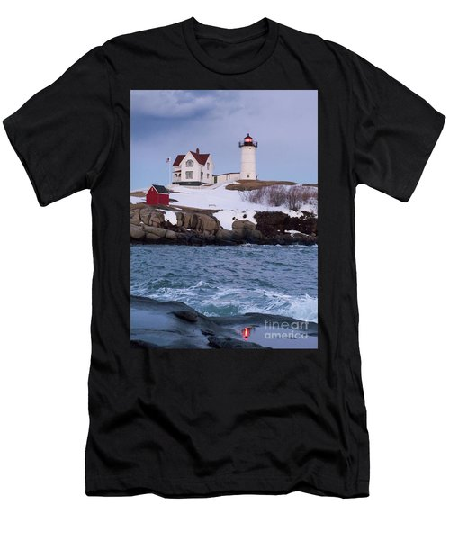 Cape Neddick Light At Dusk, York, Maine 21073 Men's T-Shirt (Athletic Fit)