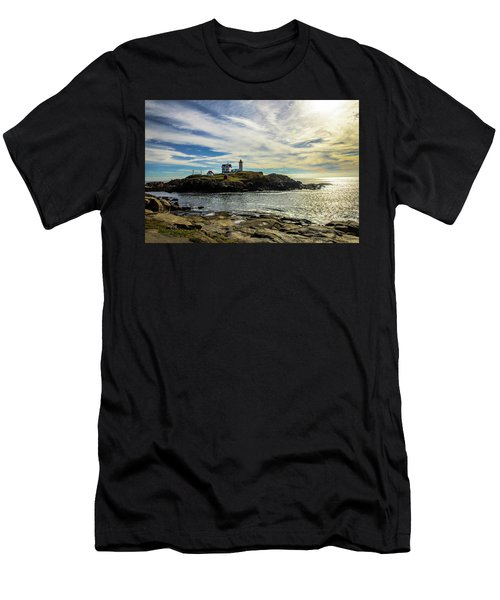 Cape Neddick Lighthouse Men's T-Shirt (Athletic Fit)