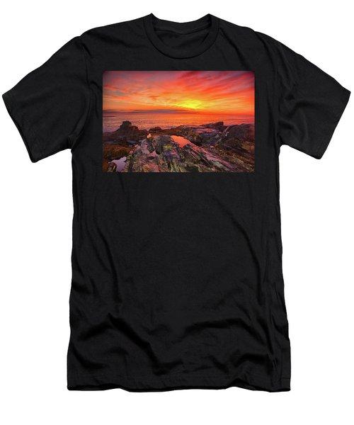 Cape Neddick Sunrise Men's T-Shirt (Athletic Fit)