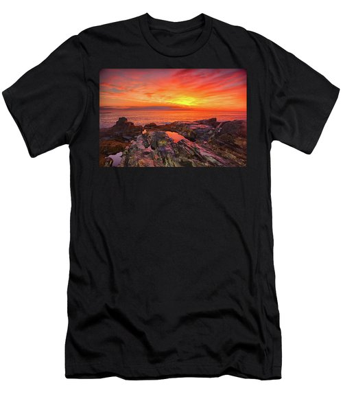 Cape Neddick Sunrise Men's T-Shirt (Athletic Fit)