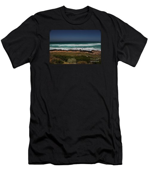 Capetown Penisula Beach Men's T-Shirt (Slim Fit) by Bev Conover