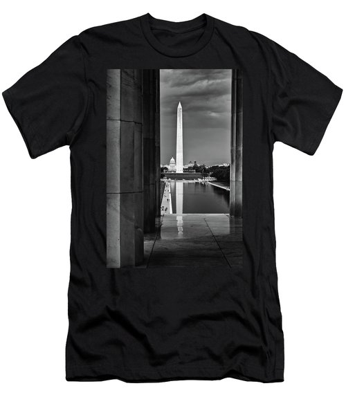 Capita And Washington Monument Men's T-Shirt (Athletic Fit)