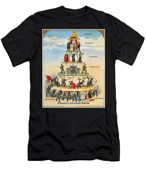 Capitalist Pyramid, 1911 - To License For Professional Use Visit Granger.com Men's T-Shirt (Athletic Fit)