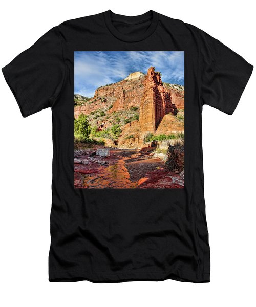 Caprock Canyon Cliff Men's T-Shirt (Athletic Fit)