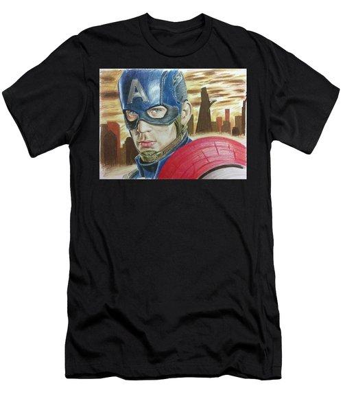 Captain America Men's T-Shirt (Athletic Fit)