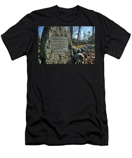Captain John Locke Monument  Men's T-Shirt (Athletic Fit)