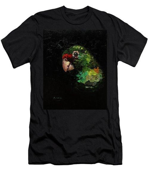 Captain The Parrot Men's T-Shirt (Slim Fit) by Janet Garcia