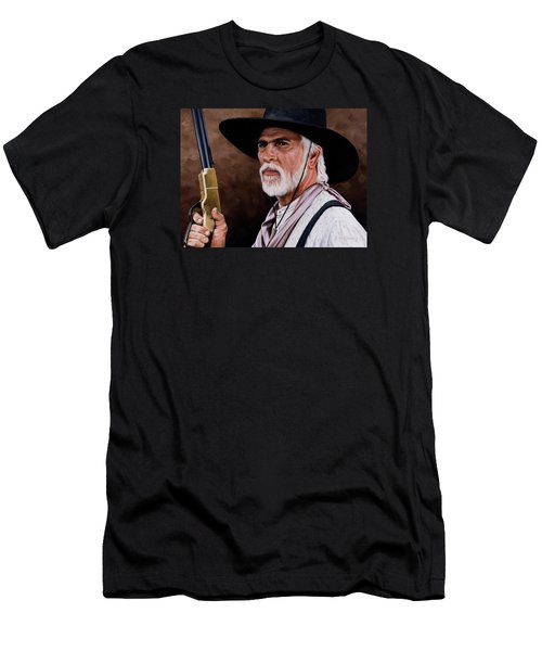 Men's T-Shirt (Slim Fit) featuring the painting Captain Woodrow F Call by Rick McKinney
