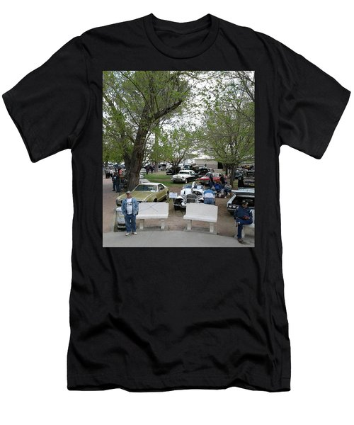 Men's T-Shirt (Slim Fit) featuring the photograph Car Show In Deming N M by Jack Pumphrey
