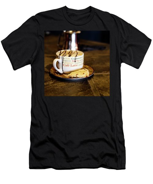 Caramel Macchiato With Scone Men's T-Shirt (Athletic Fit)