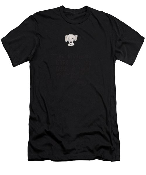 Care For Animals Men's T-Shirt (Athletic Fit)