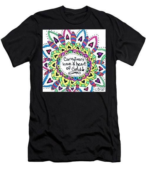 Caregiver Flower Men's T-Shirt (Athletic Fit)