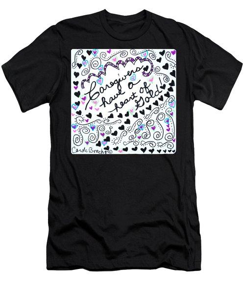 Caregiver Hearts Men's T-Shirt (Athletic Fit)