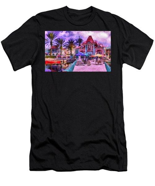 Caribbean Beach Resort Men's T-Shirt (Athletic Fit)