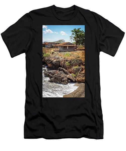 Men's T-Shirt (Slim Fit) featuring the photograph Caribbean Coastline Cuba by Joan Carroll