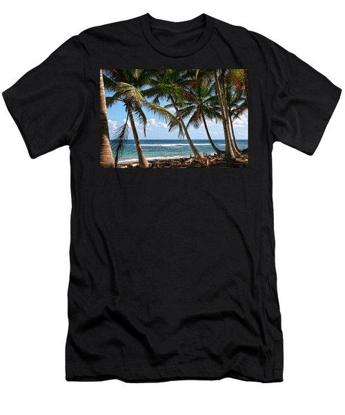 Caribbean Palms Men's T-Shirt (Athletic Fit)
