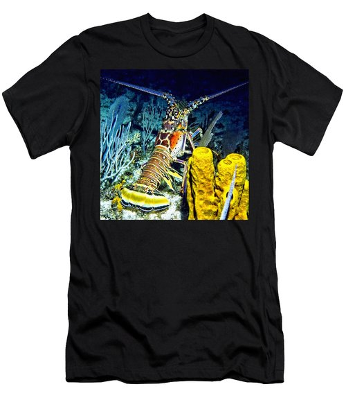 Caribbean Reef Lobster Men's T-Shirt (Athletic Fit)