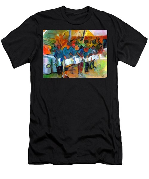 Caribbean Scenes - Steel Band Practice Men's T-Shirt (Athletic Fit)