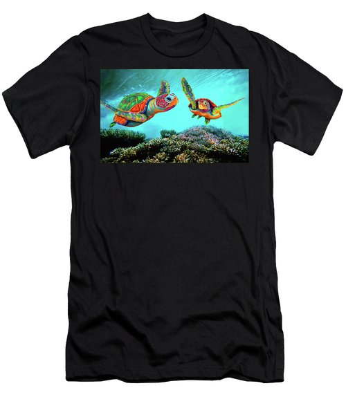 Caribbean Sea Turtles Men's T-Shirt (Athletic Fit)
