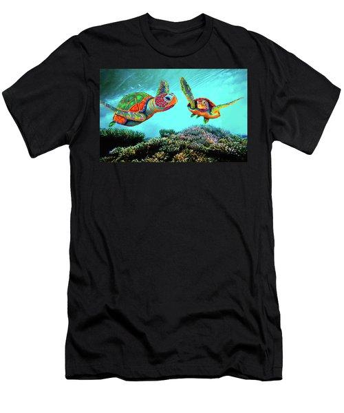 Caribbean Sea Turtles Men's T-Shirt (Athletic Fit)