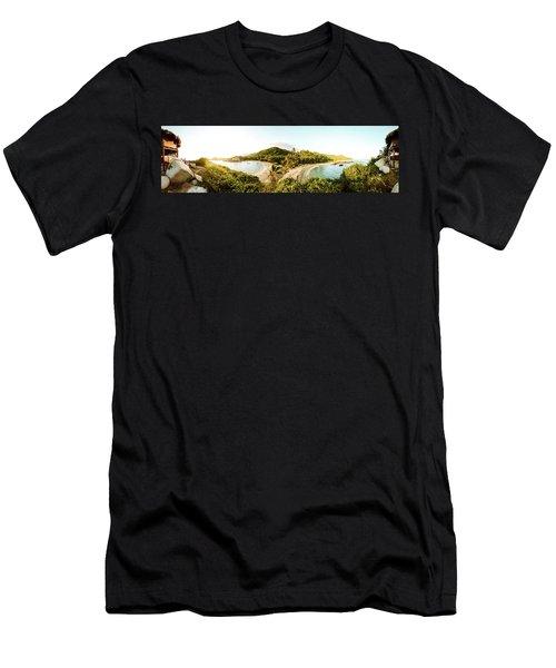 Caribbean Sunrise Men's T-Shirt (Athletic Fit)
