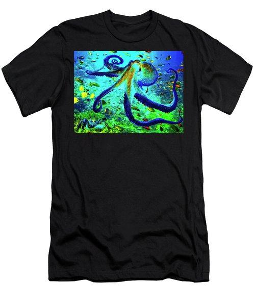 Caribbean Tropical Reef Men's T-Shirt (Athletic Fit)