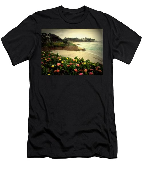 Carmel Beach And Iceplant Men's T-Shirt (Slim Fit) by Joyce Dickens