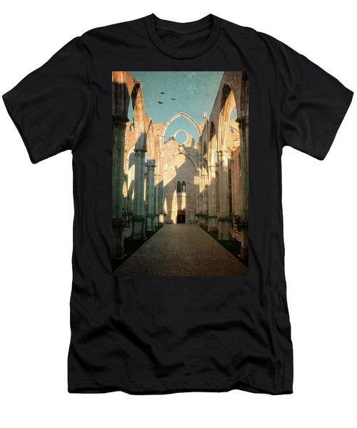 Carmo Ruins In Lisbon Men's T-Shirt (Athletic Fit)