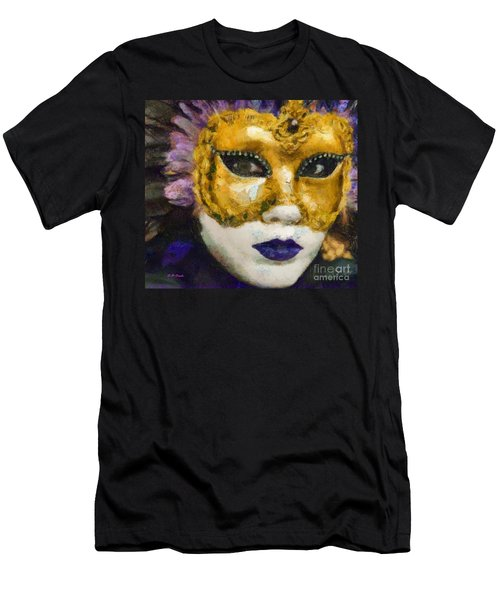 Men's T-Shirt (Slim Fit) featuring the painting Carnival Of Venice by Elizabeth Coats